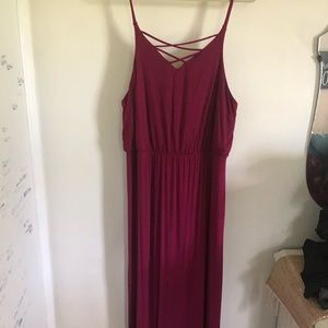 Maurice's size 1 cross front maxi dress